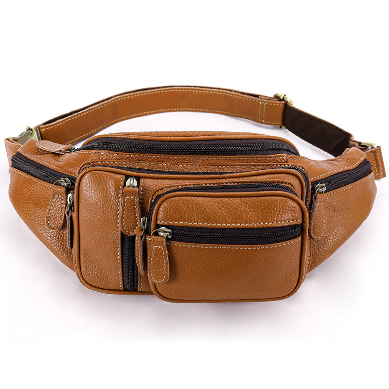 Capable New Multi-function Money Belt Bag Waist Fanny Pack Leg Waist Pouch Bags Hip Mens Waists Bags Messenger Bag Men Genuine Leather Fine Jewelry