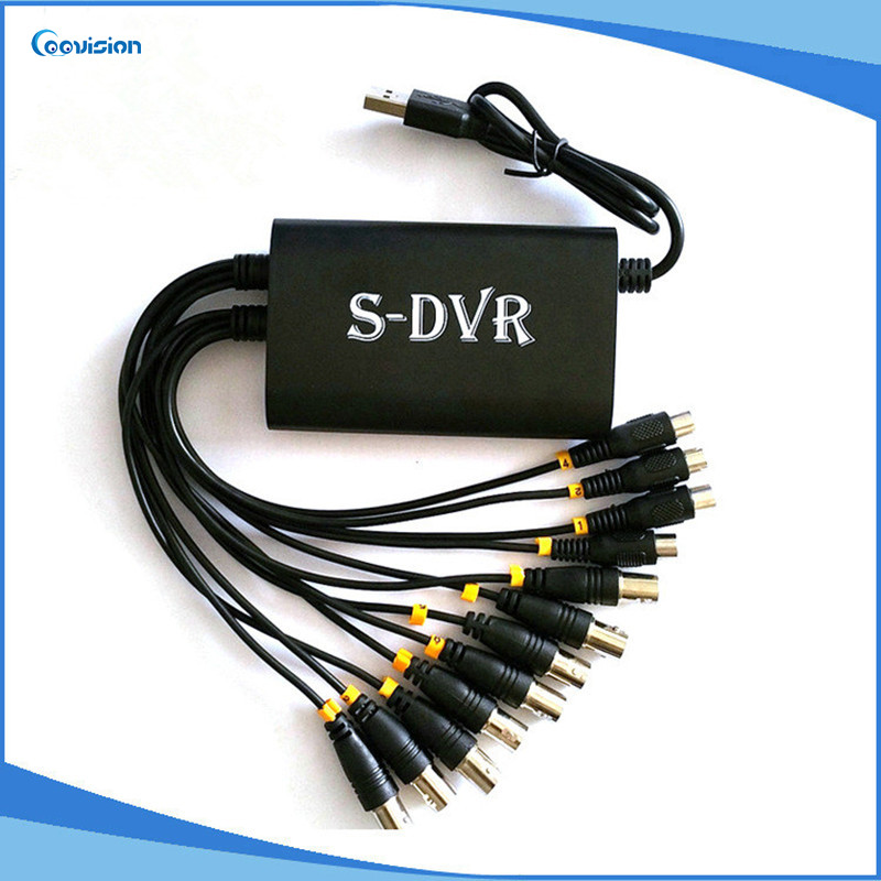 Caméra de vidéosurveillance USB carte de Capture vidéo PC 8ch logiciel dvr carte h.264