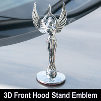 Metal Statue of Liberty Front Hood Badge Stand Bonnet Emblem Decal for VW Golf 6 7 Coralla Crown Camry Civic Accord CRV HRV IX35