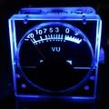 1 unids DC 12 v Analog Panel VU Metros Medidor de Nivel de Audio de Fondo azul Claro Sin necesidad de conductor