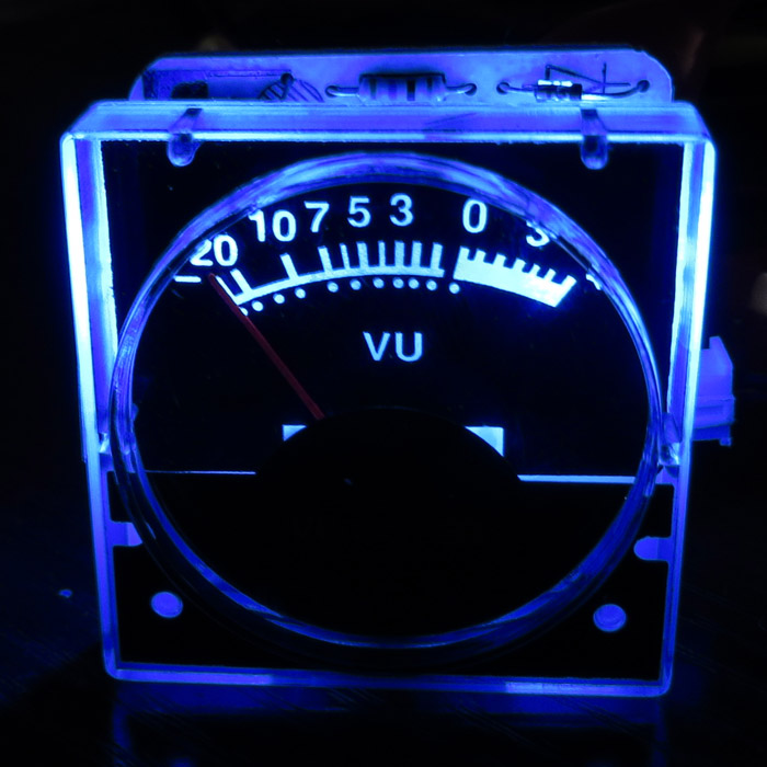 1pcs DC 12v Analog Panel VU Meter Audio Level Meter Blue Back Light No Need Driver