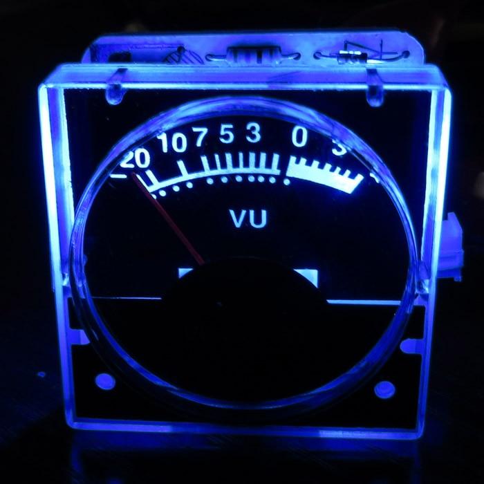 1pcs DC 12v Analog Panel VU Meter Audio Level Meter Blue Back Light No Need Driver