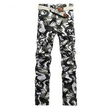 Pantalones de carga casual de camuflaje para hombres Camo militar