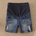 Clothes For Pregnant Women Maternity Shorts Denim Maternity Shorts Hole Jeans  Adjustable Summer For Pregnant