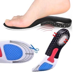 Image 1 - Спортивные беговые силиконовые гелевые стельки для ухода за ногами ортопедические подушечки для обуви Fascitis подошвенный каблук спортивные стельки вставка подушка для унисекс