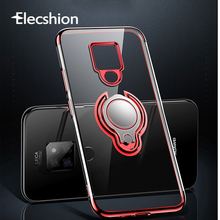 Shockproof Transparent Ring Stand Phone Case For Huawei p20 lite Mate 20 10 9 Ultra Thin Honor V9 Soft Silicone case