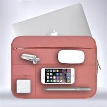 Men Women Soft Nylon Notebook Sleeve Multi Pocket for Macbook Pro/Air Retina 11 13 inch Laptop Bag Case For Mac 13.3