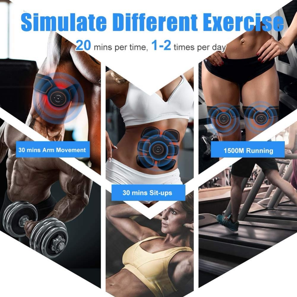 Muscle Electro Stimulator Abs Muscle Toner EMS Abdominal Toning Belt Abdominal Muscle Machine Stimul Trainer Fitness Gym Home