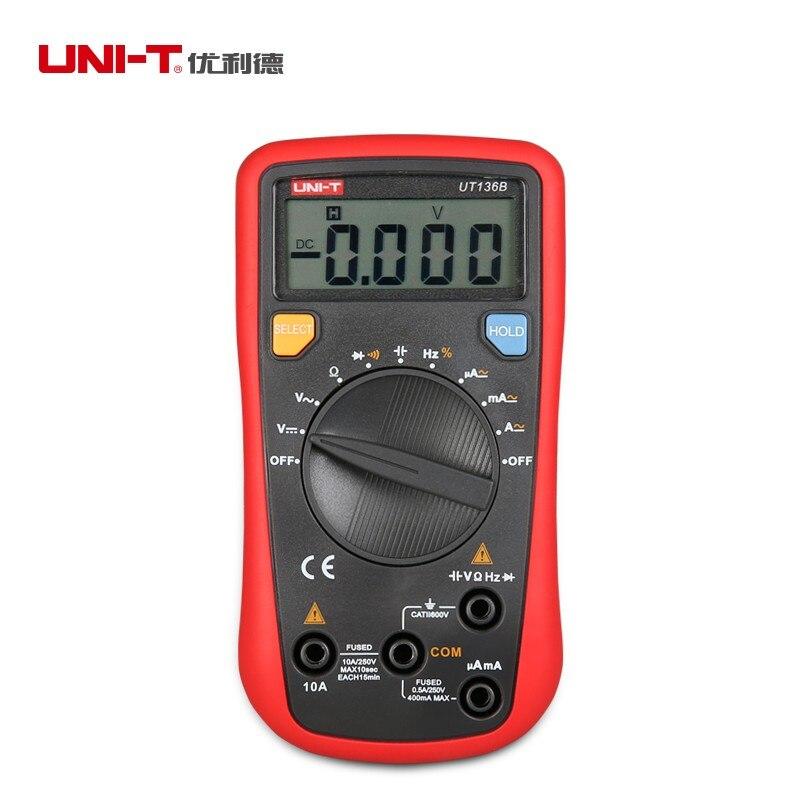 Digitales Multimeter AC//DC Widerstand Frequenz Auto Range Meter UNI-T UT136B