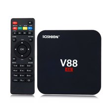 V88 4K Android 6.0 Smart TV Box Rockchip 3229 1G/2G 8G 2K WiFi Full Loaded Quad Core KODI Media Player Mini PC set top box