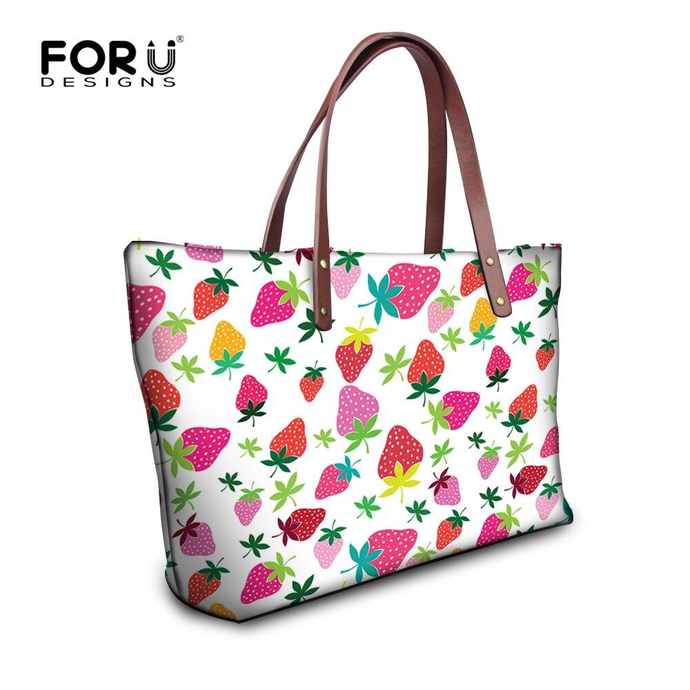 FORUDESIGNS 2017 Ladies Fruit Handbags,Large Capacity Women Shoulder Bags,Female Big Designer Tote Bag,High Quality clutch Bags