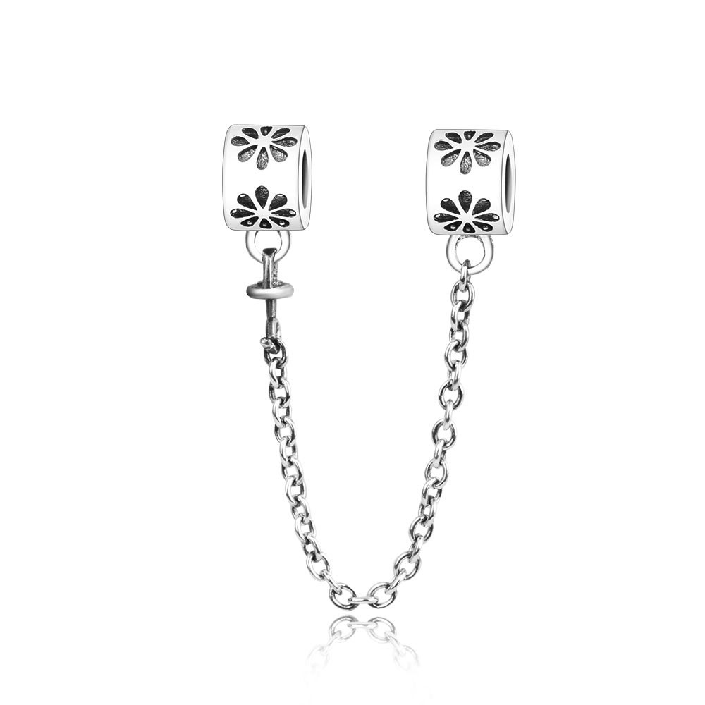 Authentic 925 Sterling Silver Daisy Safety Chain Charms ...