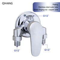 Surface Mounted Brass Shower Faucet Set Bathroom Mixer Solar Water Heater Mixing Valve Hot And Cold Taps Showers Switch