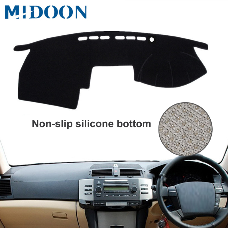 MIDOON  For Toyota Mark X 2004-2009 Car Styling Covers Dashmat Dash Mat Sun Shade Dashboard Cover Capter 2005 2006 2007 2008 RHD