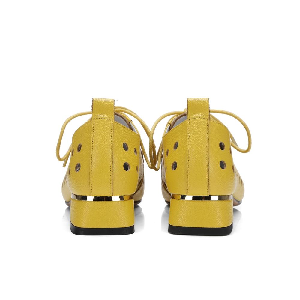 Hohl Handgemachte 3,3 cm Hohe Ferse Schuhe Lace up Frauen Aus Echtem Leder Schuhe Ferse Pumpen plus größe TN13 MUYISEXI-in Damenpumps aus Schuhe bei  Gruppe 3