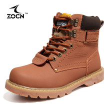 ZOCN Couple Shoes Autumn Winter Genuine Leather Boots Women Men Boots Men Women Ankle Boots Military Full Fur Snow Boots Lovers