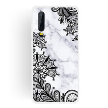 Frosted Cover For Huawei P30 Lite Case Soft TPU matting Marble pattern covering Mobile Phone Cases