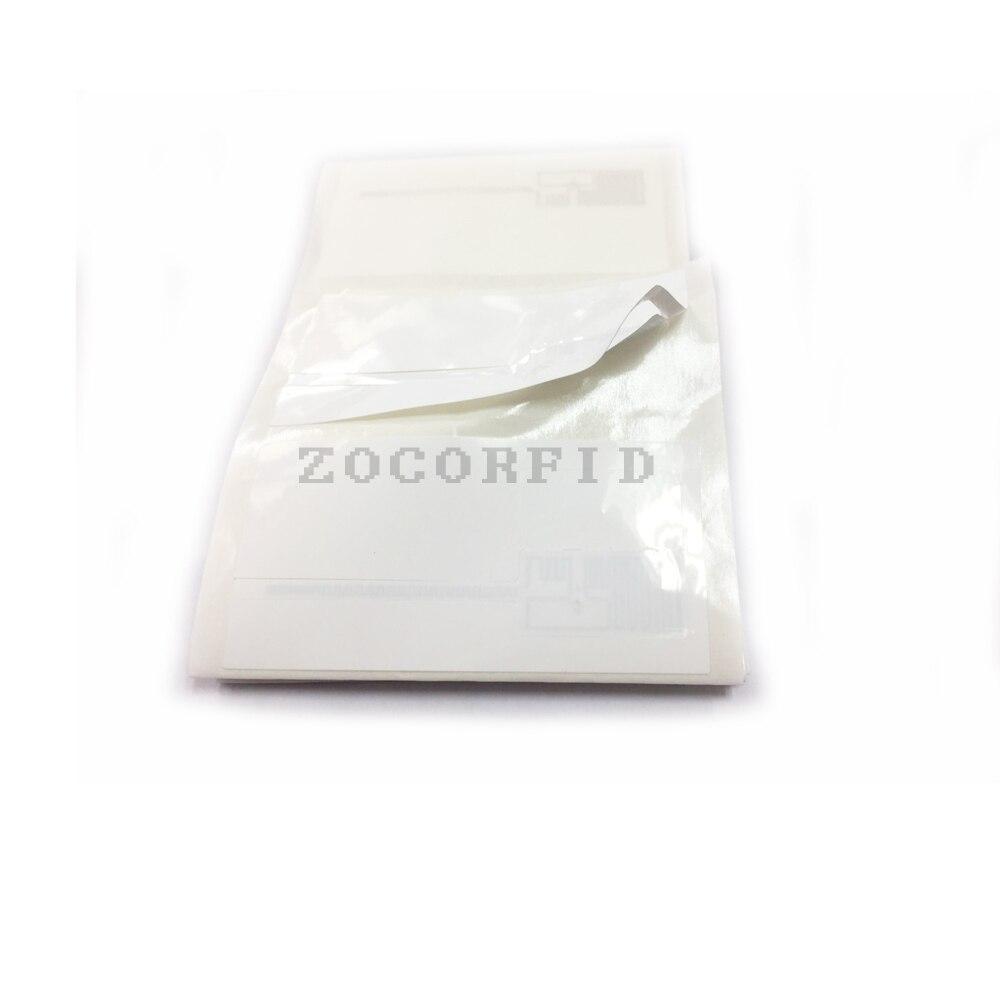 Купить с кэшбэком 500pcs/lot ISO 18000-6C Alien Higgs 3 chip 9662 antenna UHF RFID Tag 915mhz passive RFID UHF sticker label