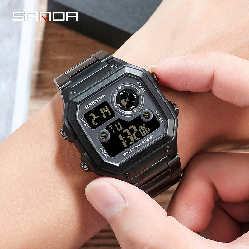 Men Sports Electronic Quartz Analog Digital Clock Male Military Waterproof Watch
