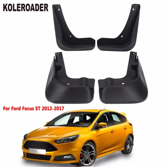 Car Accessories Front Rear Fender Splash Guards Mud Flaps Kits For Ford Focus St 2017 Mudguards Stylings 4pcs