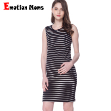 Emotion Moms Maternity Dresses Clothing Striped Nursing Dress for Pregnant Woman Short Summer Breastfeeding