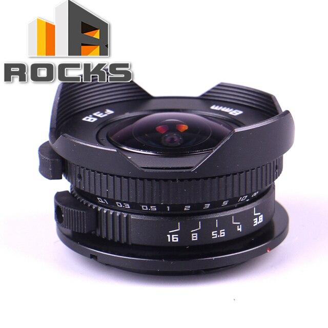 Camera 8mm F3.8 Fish-eye CC TV Lens suit For Micro Four Thirds Mount Camera LUMIX GX8 G7 GF3 GF7 OM-D E-M10 E-M5 Pen E-PL7 E-PM2