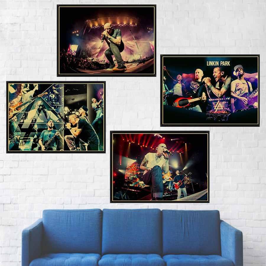 Musica Rock Poster LINKIN PARK di Carta Kraft Retro Poster Casa Pittura Decorativa di arte della parete