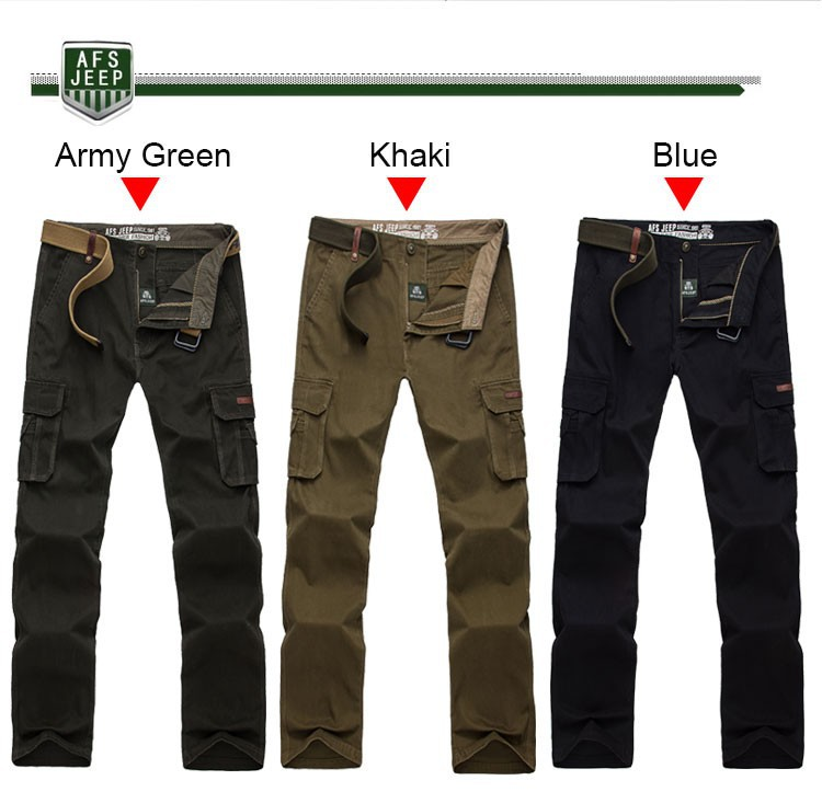 2015 Brand AFS JEEP Men New Pants Autumn Winter Cotton Cargo Casual Pants Pockets Fashion High Quality Mens Slim Pant Size 30~44 (12)