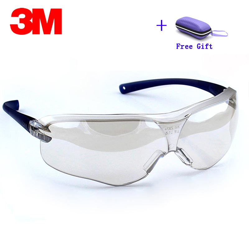 3M 10434 Safety Glasses Goggles Anti-wind Sand Fog Shock Dust Resistant Transparent Glasses Eye Protective Men Fashion