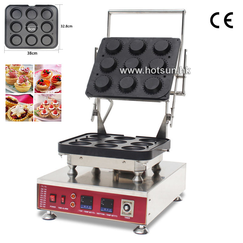 Professional 110V 220V Electric Ice Cream Waffle Bowl Maker Machine With Removable Plate