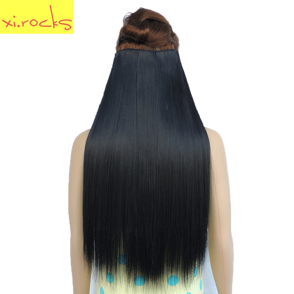 Xi.rocks Straight 5 Clip in Hair Extension Synthetic 25 Colo