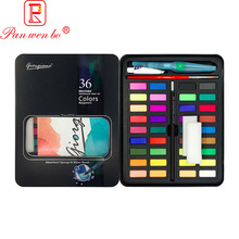 36 Colors Watercolor Paint Professional Solid Paint Set in Metal Tin Box for Artists and Budding Hobby