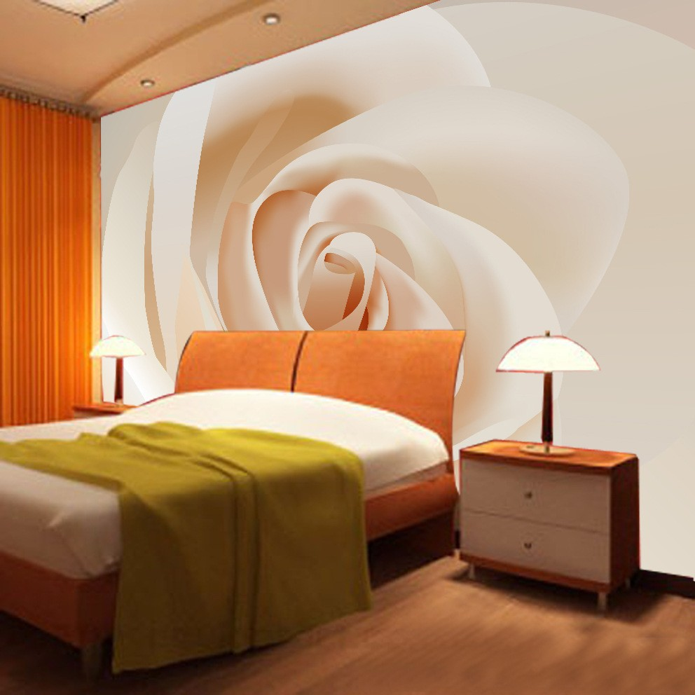 Custom Any Size 3D Wall Mural Photo Wallpaper Rose Flower Decor Bedroom Living Room Wall Painting Wallpaper Papel De Parede 3D