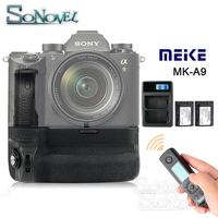 Meike MK A9 PRO Battery Grip Holder + 2.4GHz Remote Controller + 2x NP FZ100 Battery+USB charger for Sony A9 A7RIII A7III Camera