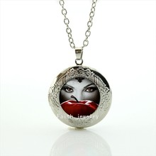Case for Once upon a Time Regina Mills art picture locket necklace handmade jewelry for women bset gift HH182(China)