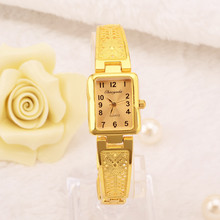 Women Watches Luxury Gold Silver Watches Fashion Rectangle D