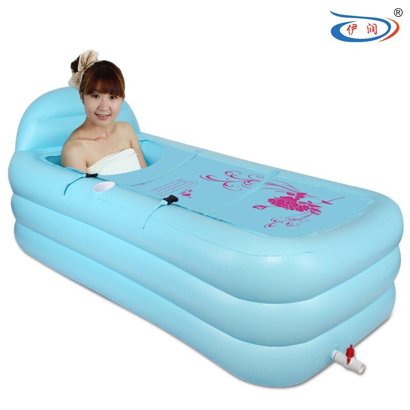 Thickening Large inflatable bathtub folding bathtub tub adult ...
