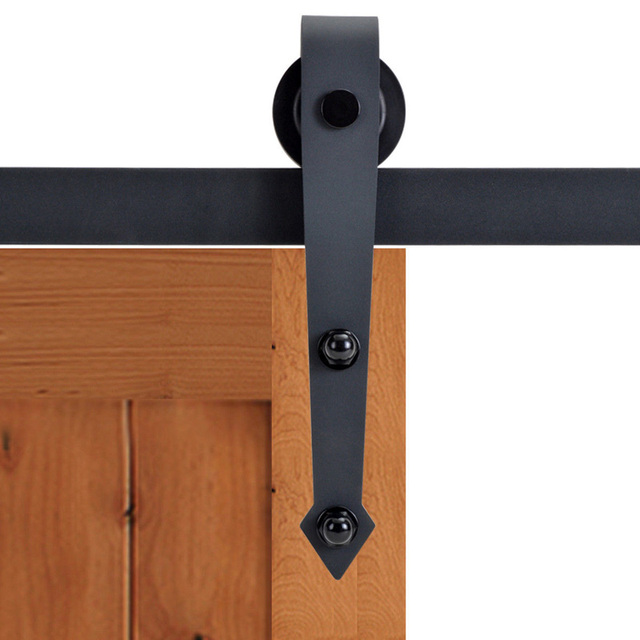 Kin Made 2pcs Arrow Shape Sliding Barn Door Hardware Extra Rollers