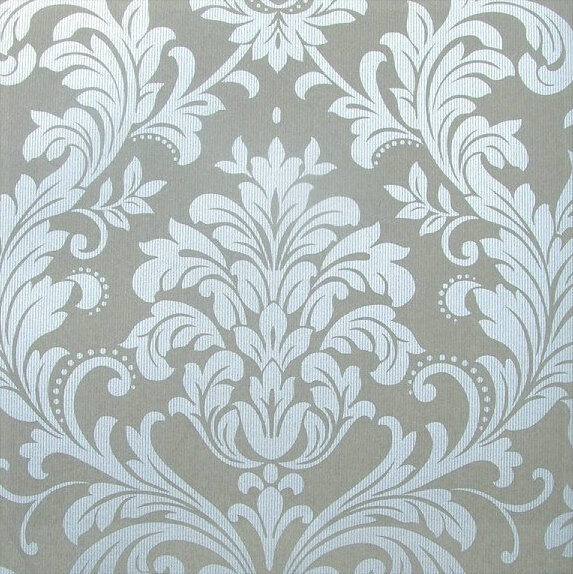 Bedroom wallpaper modern silver damask wallpaper white background wall non woven vintage wallpaper grey wallcovering office viny in wallpapers from home