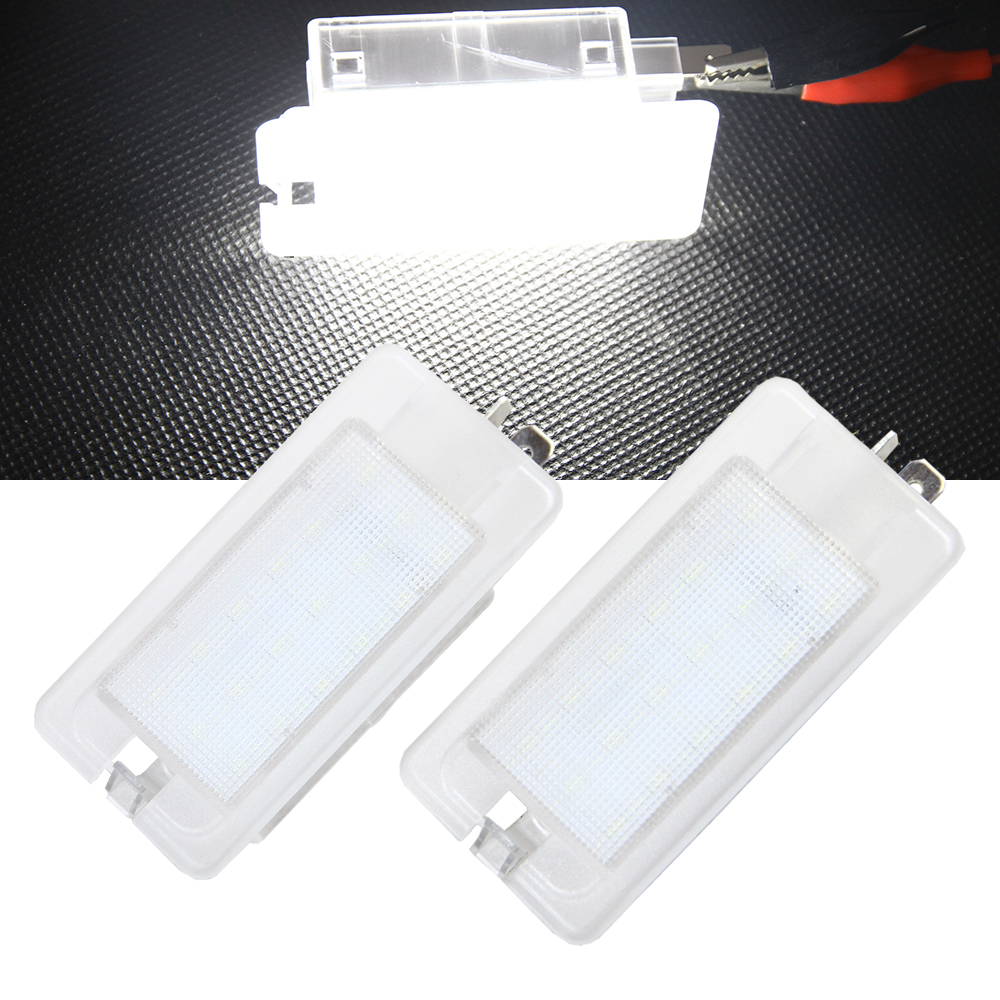 2Pcs Error Free 18 3528 SMD LED Luggage Trunk lamp Light Lamps for Kia Amanti Cadenza Premium  Forte Spectra Ceed Rio Opirus free shipping 2pcs lot 12v car led front turn signal light bulb for kia rio rio5 06 09 spectra spectra5 07 09 sportage 05 07