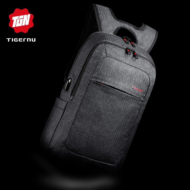 Tigernu Male Backpack Bag Brand 15.6 Inch Laptop Notebook Mochila For Men Waterproof Back Pack Bag School Backpack Women