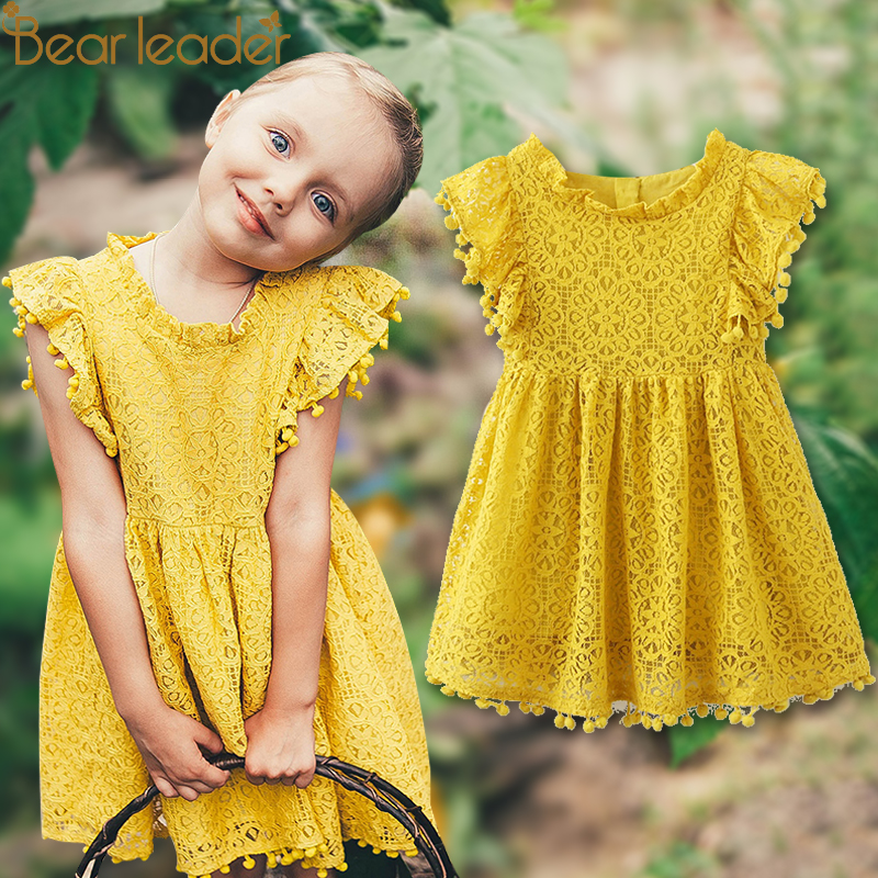Bear Leader Girls Dress 2018 New Summer Brand Girls Clothes Lace And Ball Design Baby Girls Dress Party Dress For 3-7 Years женское платье dress new brand 2015 thetest summer dress