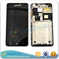 Black / White Original LCD For Lenovo S850 S850T LCD Display Touch Screen Digitizer Assembly With Frame Replacement