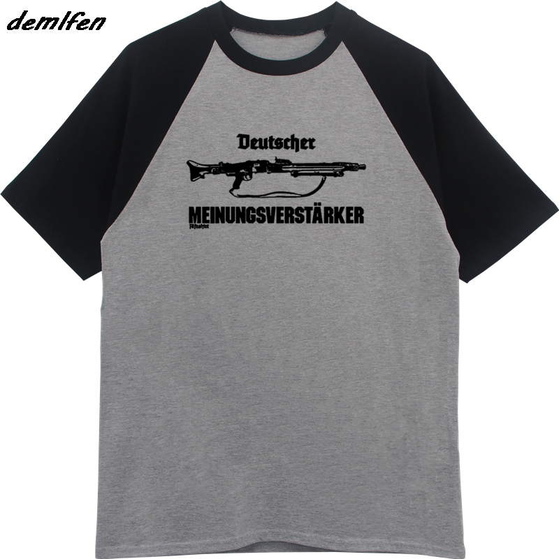 ecfe2c163b9 New Summer Raglan sleeve T shirt German Opinion Supporter Mg42 Machine Gun 7  .92 57mm T Shirt Cool Tees Tops Streetwear-in T-Shirts from Men s Clothing  on ...