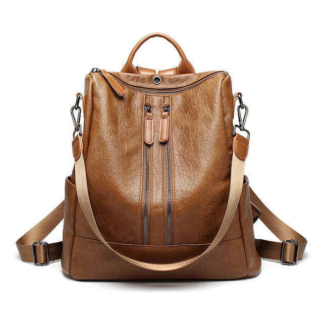 38fe48729a6a 2018 Fashion Women Backpacks PU Leather Backpack Shoulder Bags For Female