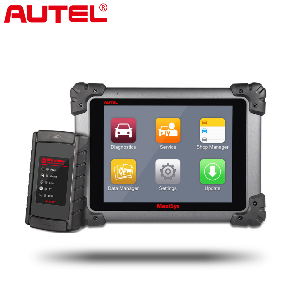 Top Autel MaxiSys Pro MS908/ MS908 with J2534 Car Diagnostic OBD2 Scanner Wireless Car Repair Tool Vehicle Programming Scanner