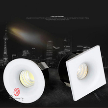 цена на 5Pcs/Lot Mini LED Downlight COB Spot Light Dimmable Jewelry Cabinet AC110/220V Optional Ceiling Recessed Conceal Free Shipping