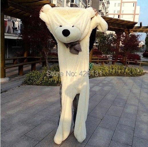 Partihandel 200cm Stor björnhölje Teddy Bear Fur skal plysch leksak docka födelsedag Alla hjärtans dag present 5 färg gratis frakt