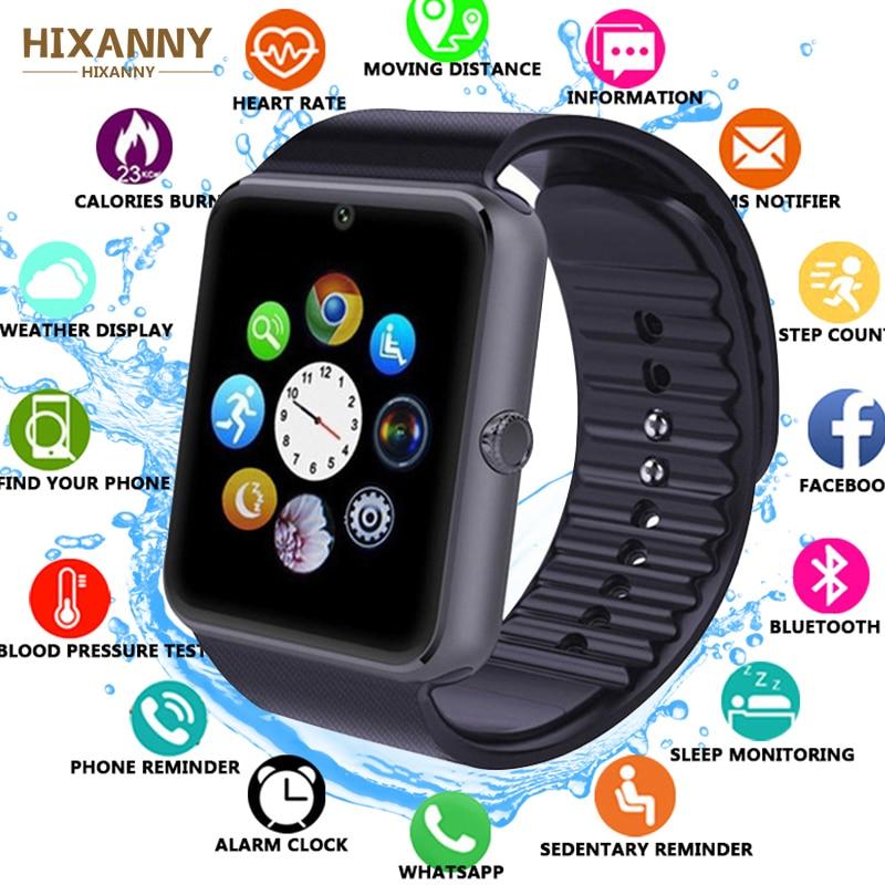 2019 montre intelligente GT08 horloge synchronisation notifiant prise en charge Sim TF carte connectivité Bluetooth pour Android HUAWEI Apple Samsung