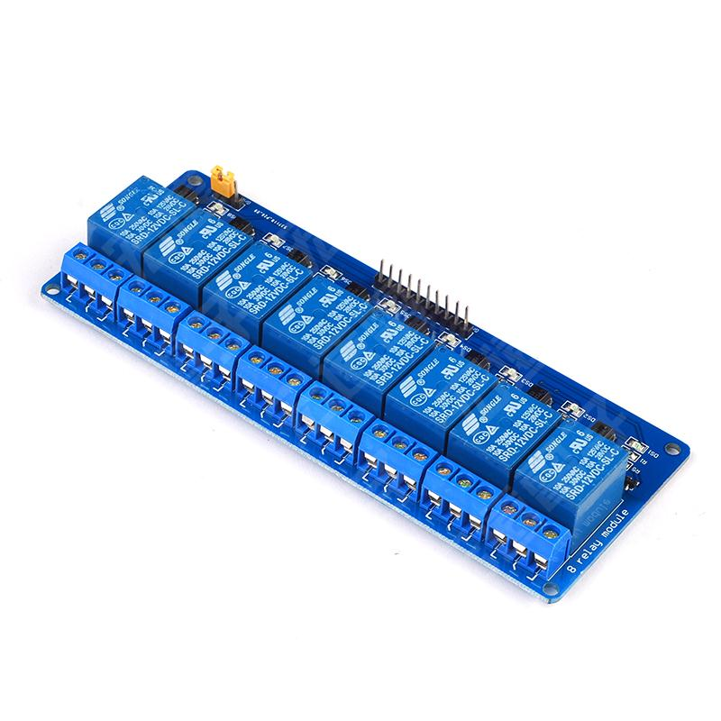 1PCS 8 Channel Relay Module control panel 12V Low level trigger for arduino PLC Free Shipping pcb board 1 channel plc relay module slotted optical switch sensor for arduino